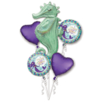 Bouquet Mermaid Wishes Seahorse Foil Balloon P75 packaged