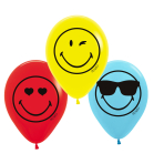 6 Latex Balloons Smileyworld 27,5 cm/ 11""