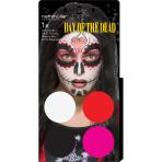 Aqua Kit Day Of The Dead (4 x Face Paint 3.5 g / 1 Brush)