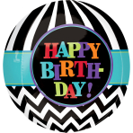 Orbz Celebrate Happy Birthday Foil Balloon G20 Packaged 38 x40 cm