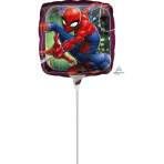 "9'' ""Spider-Man Animated"" Foil Balloon Square , A20, bulk, 23cm"