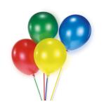 15 Balloon Sticks assorted Plastic 24 cm