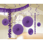 Decoration Kit New Purple Paper / Foil 18 Parts 274 cm / 213 cm / 20.3 - 55.8 cm