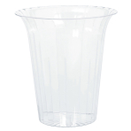 Cylinder Container Flared     Plastic Round Large 17.8 x    19.3 cm