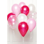 DIY Balloon Bouquet Pink 10 Balloons