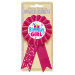 Award Ribbon Birthday Girl Fabric / Paper 8.1 x 15.2cm