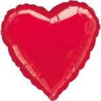 Jumbo Metallic Red Heart Foil Balloon P30 Bulk