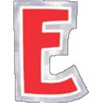 48 Stickers Letter E