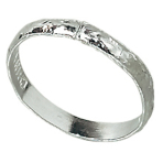 288 Wedding Bands Plastic Silver