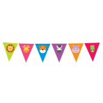 Pennant Banner Jungle Animals Foil 400 x 20.4 cm