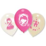 "6 Latex Balloons My Princess 22.8 cm / 9"""