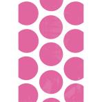 10 Paper Bags Polka Dots Bright Pink 11.3 x 17.7 cm