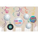 12 Swirl Decorations Good Vibes Foil / Paper 61 cm