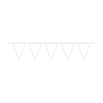 Pennant Banner Frosty White Plastic 1000 x 32 cm