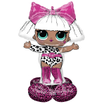 AirLoonz LOL Glam Diva Foil Balloon P71 Packaged 88 cm x 119 cm