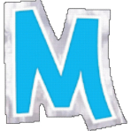 48 Stickers Letter M