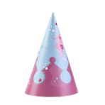 8 Party Cone Hats Be a Mermaid Paper Height 16 cm