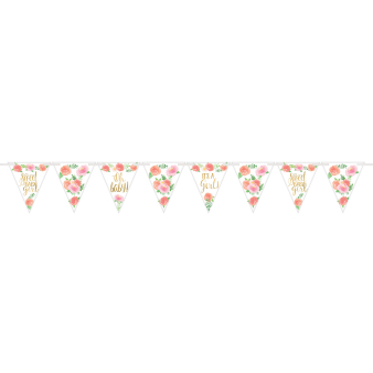 Pennant Banner Floral Baby Paper 457 x 17.7 cm