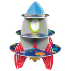Treat Stand Rocket Blast Off Laminated Foam Core 40.1 x 33 c