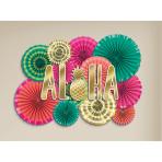 Fan Decoration Kit Aloha Paper 20.3 cm / 30.4 cm / 40.6 cm