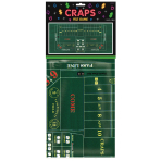 Craps Felt Game Tablecover Place Your Bets 94 x 182 cm