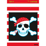 8 Party Bags Pirate Party Plastic 25.1 x 16.5 cm