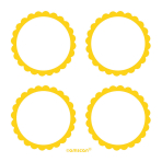 5 Sheets of Labels Sunshine Yellow 5.1 cm