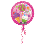 Standard Sweet Shop Birthday Foil Balloon Round S40 Packaged43 cm