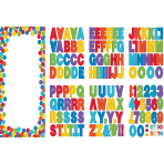 Door Decoration Kit Birthday Accessories - Primary Rainbow Personalize It 165 x 85 cm