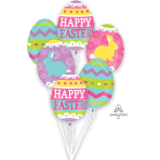 "Bouquet ""Easter Egg Hunt"" 6 Foil Balloons, P75, packed"