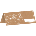 8 Placecards Fox & Beaver Paper 5 x 10 cm