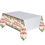 Tablecover Merry Holly Day Plastic 137 x 243 cm