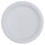20 Plates Plastic Clear 17.7 cm