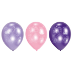 6 Latex Balloons Sofia the First 22.8 cm/9''
