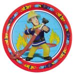 8 Plates Fireman Sam 23 cm