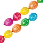 "6 Latex Balloons Happy Birthday Garland 27.5 cm / 11"""