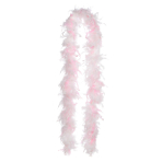 Boa Hen Night 2016 White & Pink Feathers / Foil 146 cm