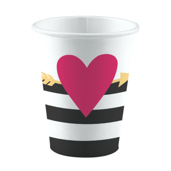 8 Cups Everyday Love Big heart Paper 250 ml