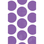 10 Paper Treat Bags Polka Dot New Purple 11.3 x 17.7 cm