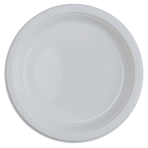 20 Plates Clear Plastic Round 22.8 cm