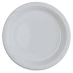 20 Plates Plastic Clear 22.8cm