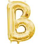 MiniShape Letter B Gold Foil Balloon L16 Packaged 22cm x 33c