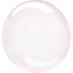 Clearz Petite Crystal Light Pink Foil Balloon S15 Packaged