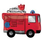 SuperShape Fire Truck Foil Balloon P35 Packaged 66 cm x 55 c