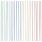 100 Straws Assorted 18.1 cm
