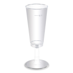 6 Cups clear Plastic 0.1 l