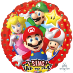 "Sing-A-Tune ""Super Mario Brothers"" Foil Balloon  , P75, packed, 71 x 71cm"