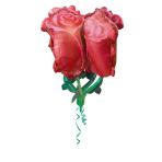 """Ultrashape """"Red Roses"""" Foil Balloons, P60, packed, 68x76cm"""