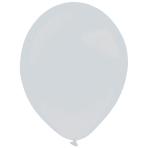 "50 Latex Balloons Decorator Metallic Silver 35 cm / 14"""