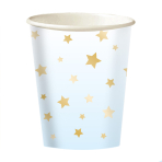 8 Cups 1st Birthday Blue Ombre Paper 250 ml